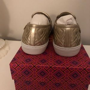 Tory Burch Shoes - New in box Tory Burch Gold Sneakers 7.5